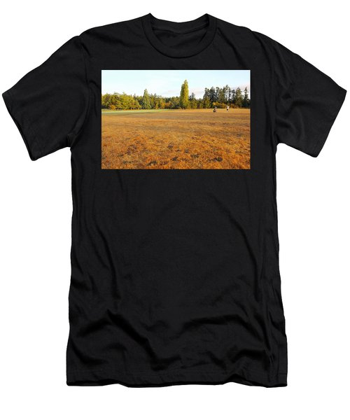 Early Fall Morning In The Rough On The Golf Course Men's T-Shirt (Athletic Fit)