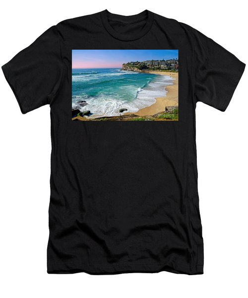Early Morning Bronte Beach By Kaye Menner Men's T-Shirt (Athletic Fit)