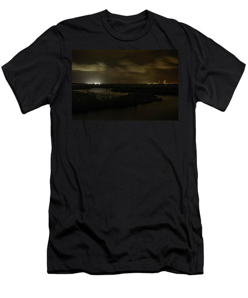 Men's T-Shirt (Slim Fit) featuring the digital art Early Morning Over Lake Shelby by Michael Thomas