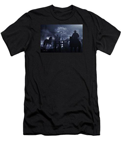 Early Morning Smoke Men's T-Shirt (Slim Fit) by Joan Davis
