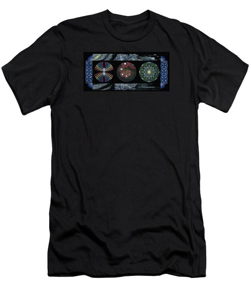 Men's T-Shirt (Slim Fit) featuring the painting Earth's Beginnings by Keiko Katsuta