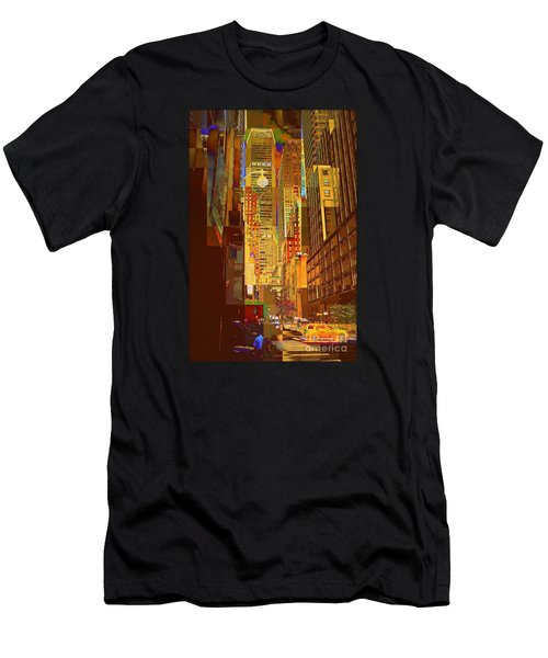 East 45th Street - New York City Men's T-Shirt (Athletic Fit)