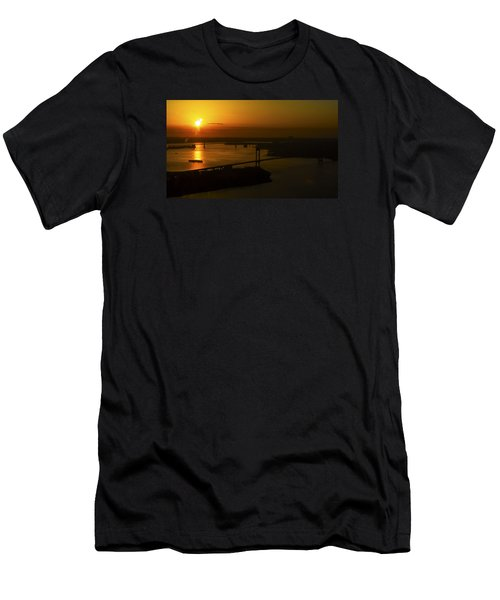 East River Sunrise Men's T-Shirt (Slim Fit) by Greg Reed