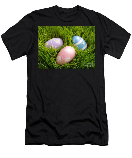 Easter Eggs In The Grass Men's T-Shirt (Athletic Fit)