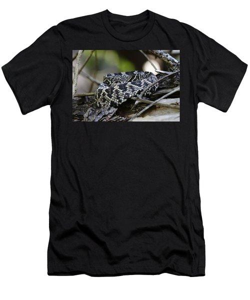 Eastern Diamondback-1 Men's T-Shirt (Slim Fit) by Rudy Umans