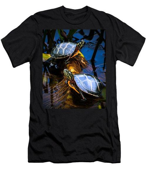 Eastern Painted Turtles Men's T-Shirt (Athletic Fit)