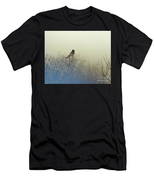 Eastern Phoebe Lacassine Pool  Lacassine Nwr Men's T-Shirt (Athletic Fit)