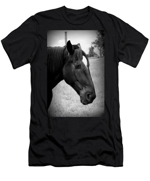 Men's T-Shirt (Slim Fit) featuring the photograph Ebony Beauty by Laurie Perry