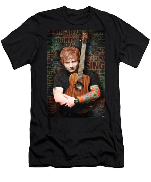 Ed Sheeran And Song Titles Men's T-Shirt (Athletic Fit)