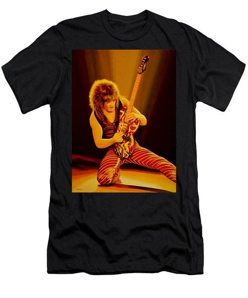 Eddie Van Halen Painting Men's T-Shirt (Athletic Fit)