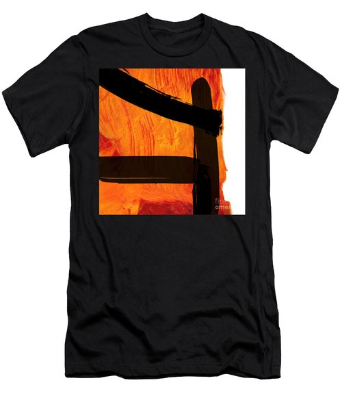 Men's T-Shirt (Slim Fit) featuring the painting Edge IIi by Paul Davenport