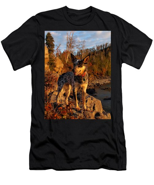 Men's T-Shirt (Slim Fit) featuring the photograph Edge Of Glory by James Peterson