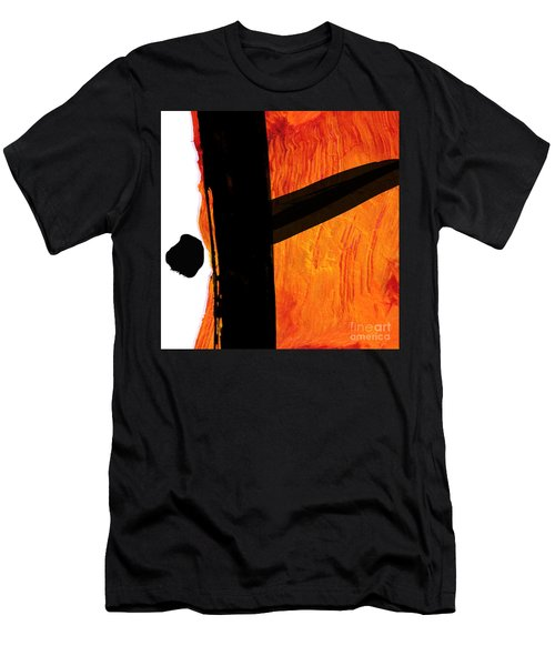 Men's T-Shirt (Slim Fit) featuring the painting Edge by Paul Davenport