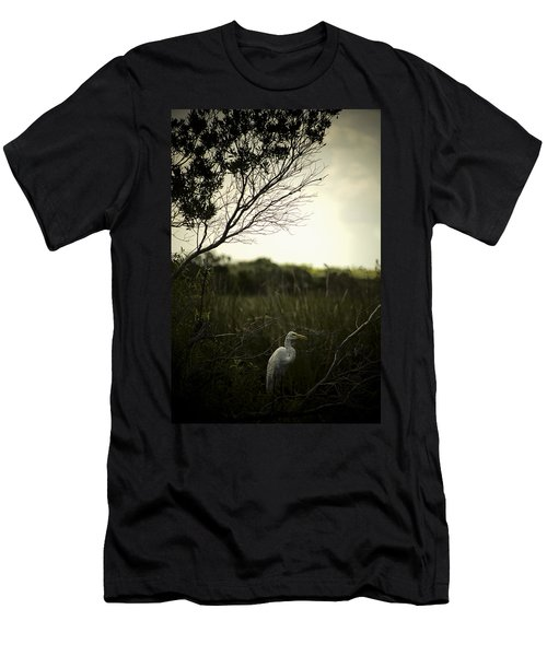 Egret At Sunset Men's T-Shirt (Athletic Fit)