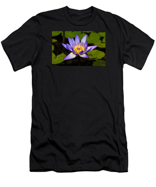 Egyptian Blue Water Lily  Men's T-Shirt (Athletic Fit)