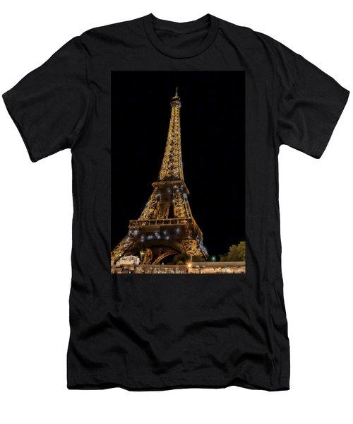 Eiffel Tower 4 Men's T-Shirt (Athletic Fit)