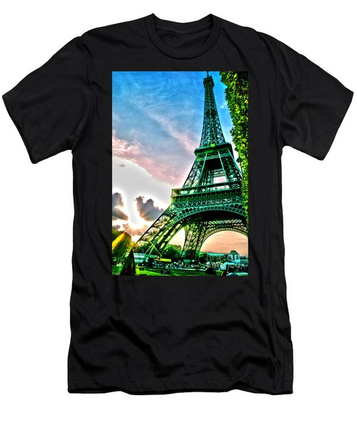 Eiffel Tower 8 Men's T-Shirt (Slim Fit) by Micah May