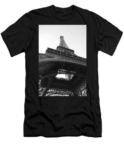 Eiffel Tower B/w Men's T-Shirt (Athletic Fit)