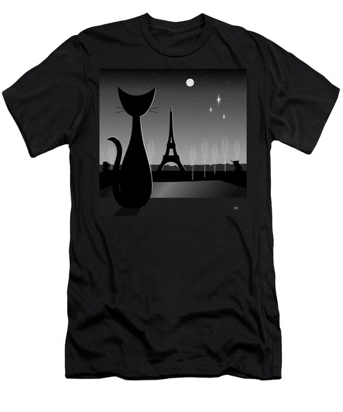 Eiffel Tower Men's T-Shirt (Athletic Fit)