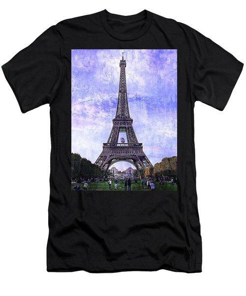 Eiffel Tower Paris Men's T-Shirt (Athletic Fit)