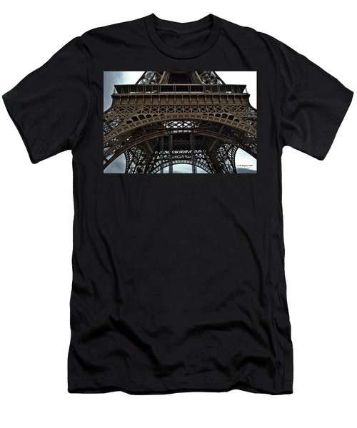 Men's T-Shirt (Slim Fit) featuring the photograph Eiffel Tower - The Forgotten Names by Allen Sheffield
