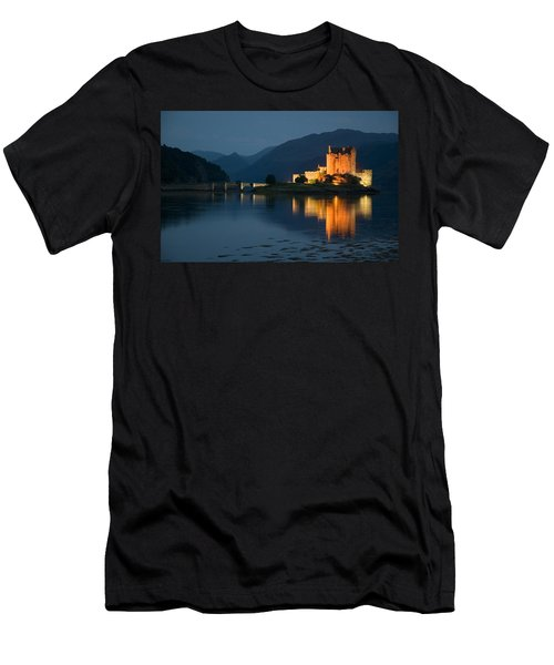 Men's T-Shirt (Slim Fit) featuring the photograph Eilean Donan Castle At Night by Jeremy Voisey