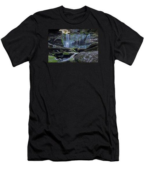 Elakala Falls Number 1 Men's T-Shirt (Slim Fit) by Shelly Gunderson