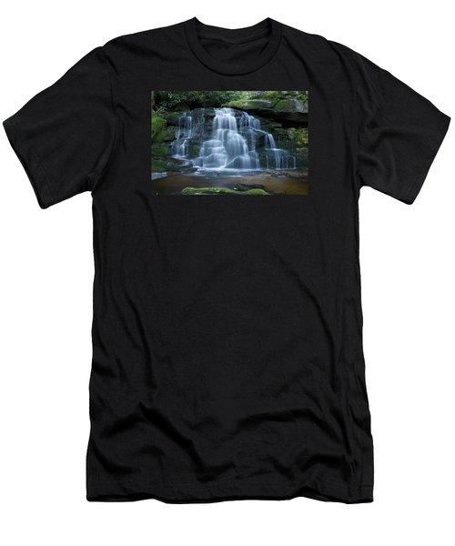 Elakala Falls Number 2 Men's T-Shirt (Slim Fit) by Shelly Gunderson