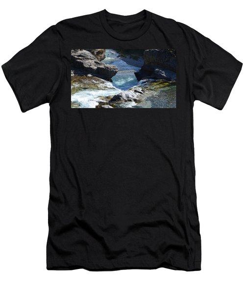Elbow Falls Men's T-Shirt (Slim Fit) by Cheryl Miller