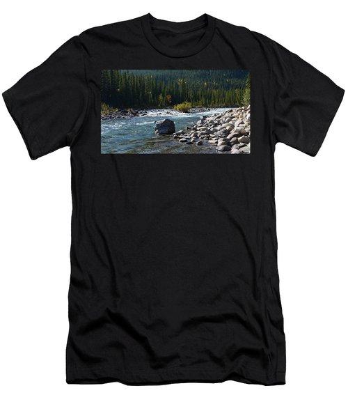 Elbow River Rock Art Men's T-Shirt (Slim Fit) by Cheryl Miller