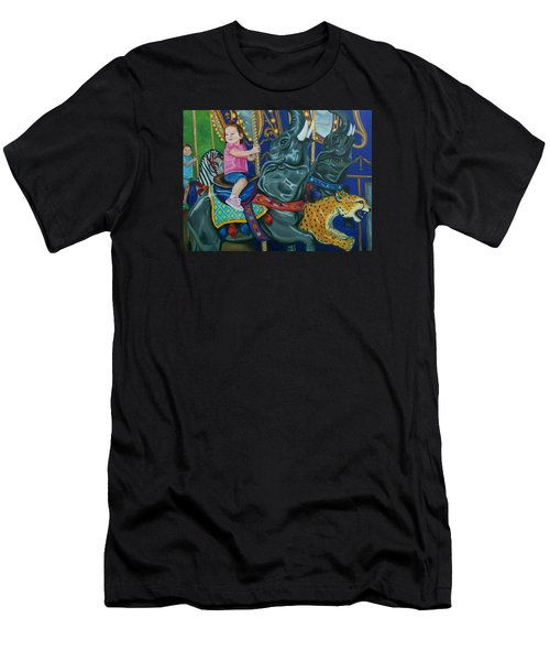 Elephant Ride Men's T-Shirt (Athletic Fit)