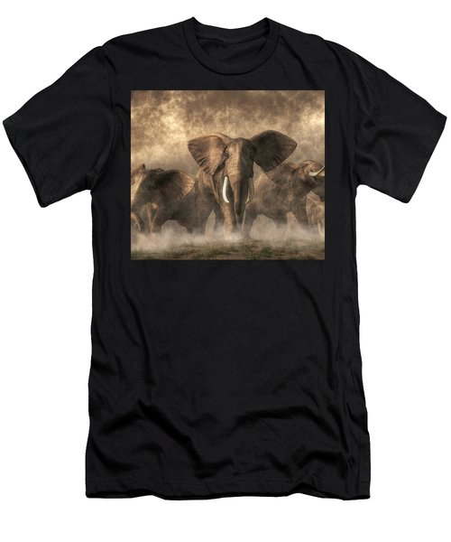Elephant Stampede Men's T-Shirt (Athletic Fit)