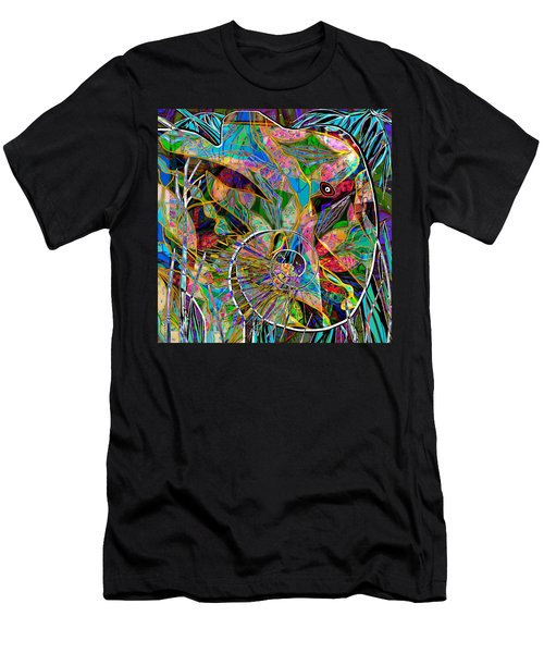 Elephant's Kaleidoscope Men's T-Shirt (Athletic Fit)