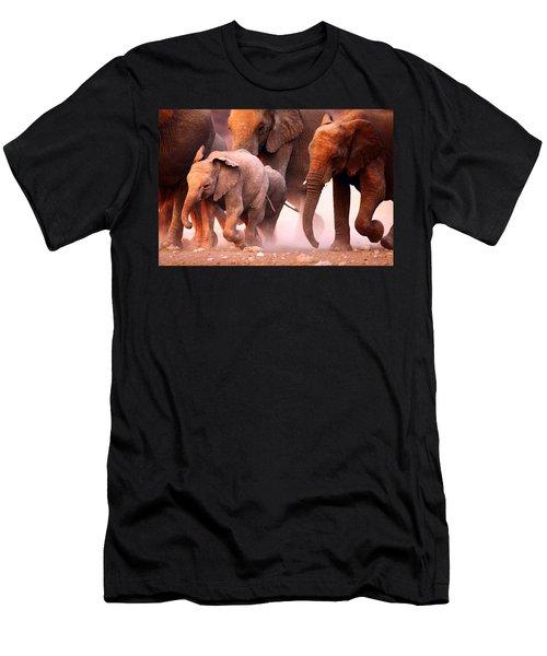 Elephants Stampede Men's T-Shirt (Athletic Fit)