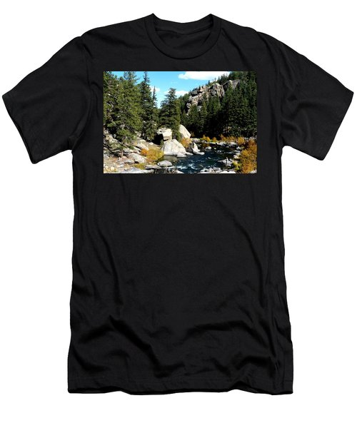 Eleven Mile Canyon Stream Men's T-Shirt (Athletic Fit)