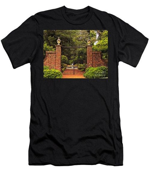 Elizabethan Gardens Men's T-Shirt (Slim Fit) by Lydia Holly