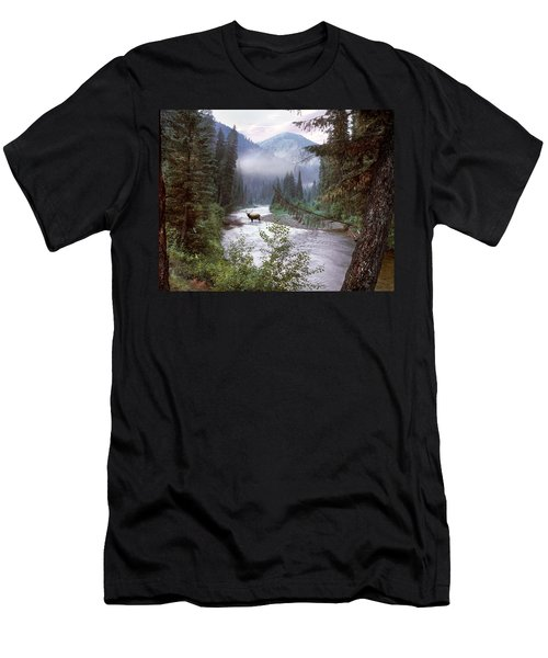 Elk Crossing 2 Men's T-Shirt (Athletic Fit)