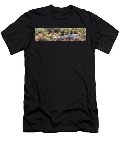 Elk In Motion Men's T-Shirt (Athletic Fit)