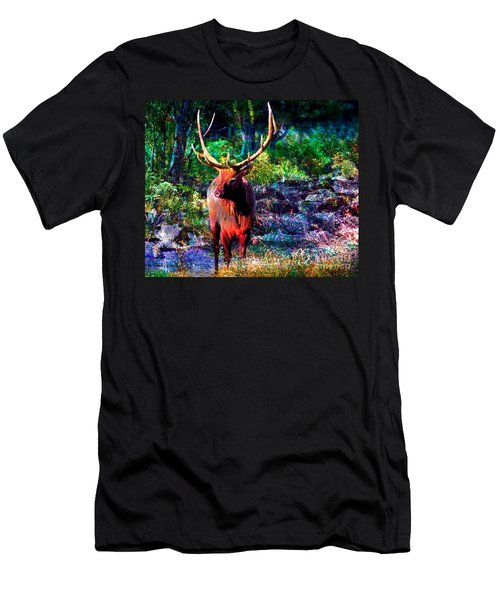 Elk In The Wilderness Men's T-Shirt (Athletic Fit)