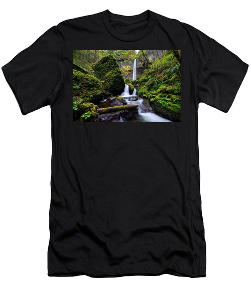 Men's T-Shirt (Athletic Fit) featuring the photograph Elowah Falls by Dustin  LeFevre
