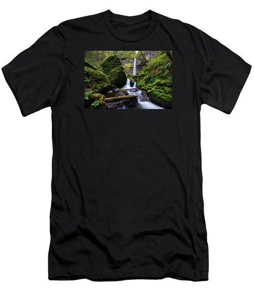 Elowah Falls Men's T-Shirt (Athletic Fit)