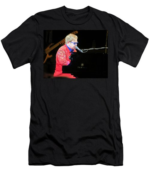 Elton John Live Men's T-Shirt (Slim Fit) by Aaron Martens