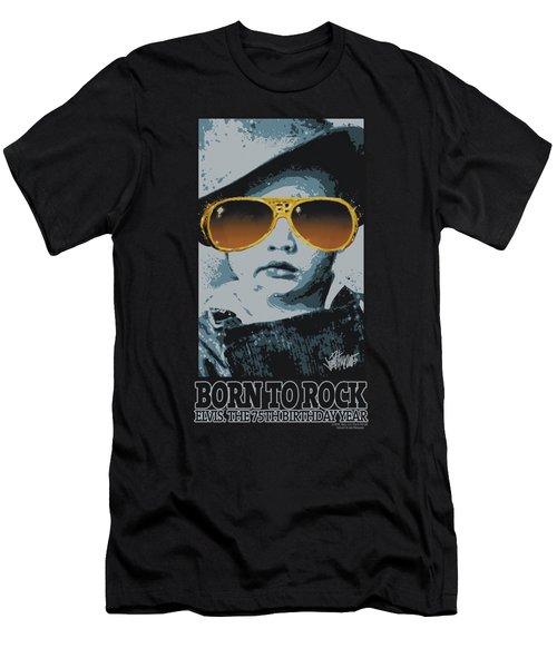 Elvis - Born To Rock Men's T-Shirt (Athletic Fit)