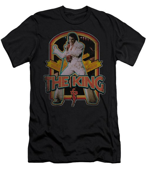 Elvis - Distressed King Men's T-Shirt (Athletic Fit)