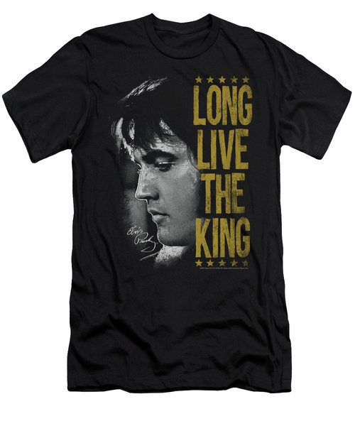 Elvis - Long Live The King Men's T-Shirt (Athletic Fit)