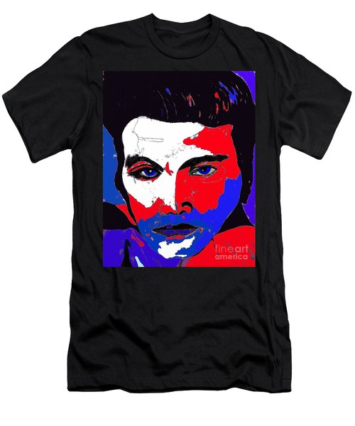 Elvis Made In The U S A Men's T-Shirt (Slim Fit) by Saundra Myles