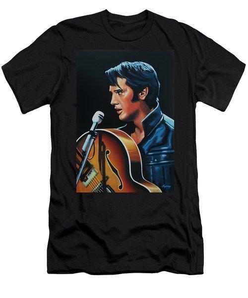 Elvis Presley 3 Painting Men's T-Shirt (Slim Fit) by Paul Meijering