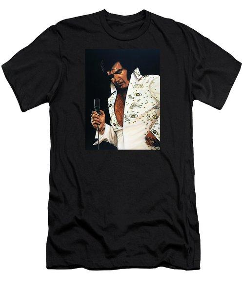 Elvis Presley Painting Men's T-Shirt (Slim Fit) by Paul Meijering