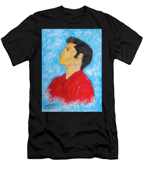 Elvis Presley Singing Men's T-Shirt (Athletic Fit)