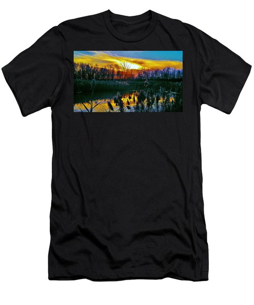 Men's T-Shirt (Slim Fit) featuring the photograph Emagin Sunset by Daniel Thompson